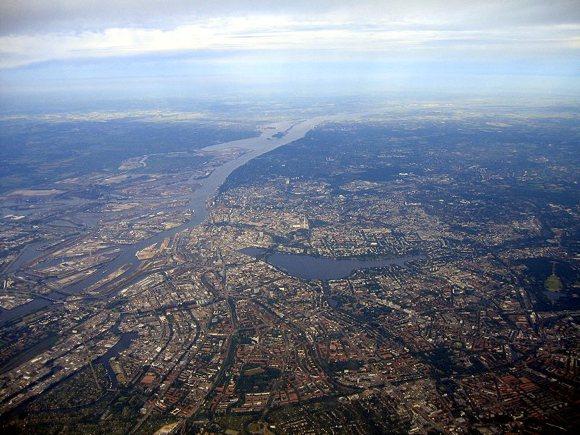 Luftansicht von Hamburg