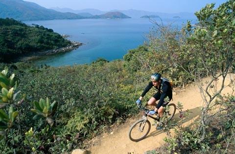 Fahrrad fahren in Sai Kung