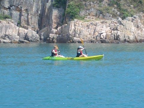 Kayak fahren in Sai Kung