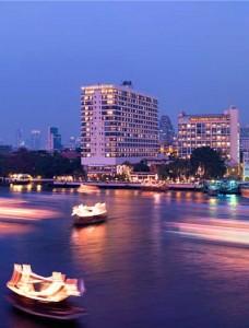 Blick auf das Mandarin Oriental Bangkok