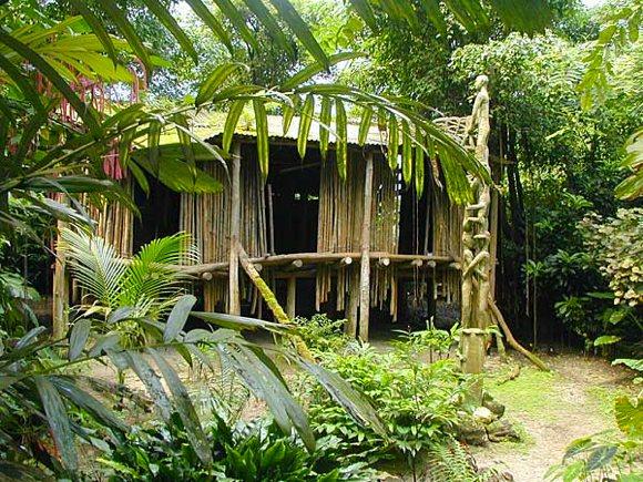 Häuser am Amazonas