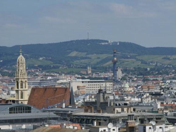 Blick vom Stephansdom über Wien