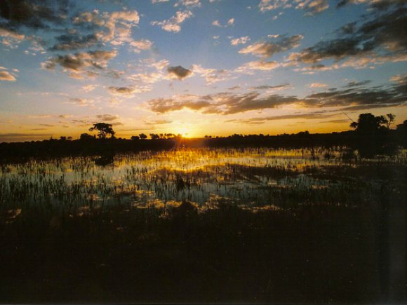 Sonnenuntergang Botswana