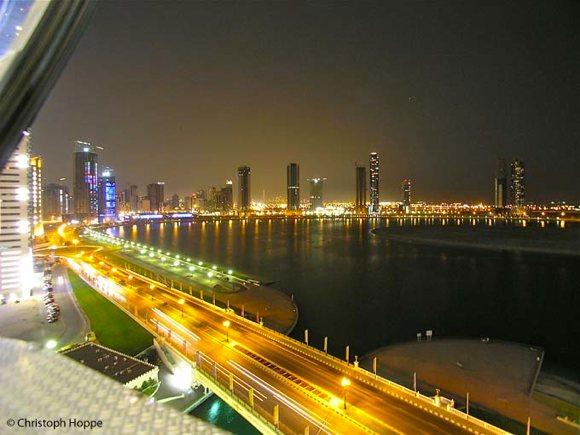 Blick aus dem Riesenrad Sharjah