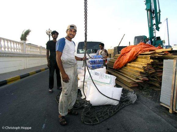 Hafenarbeiter Sharjah