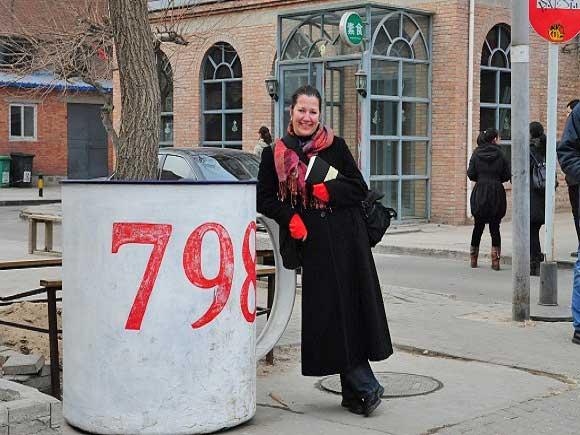 Die Redakteurin Judith Hoppe im 798 in Beijing © Judith Hoppe