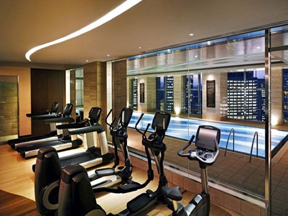 Der Fitnessbereich des Hotels.