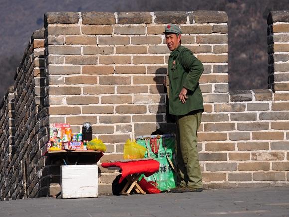 Verkäufer auf der Chinesischen Maier
