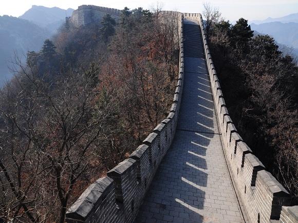 Blick auf die Chinesische Mauer.