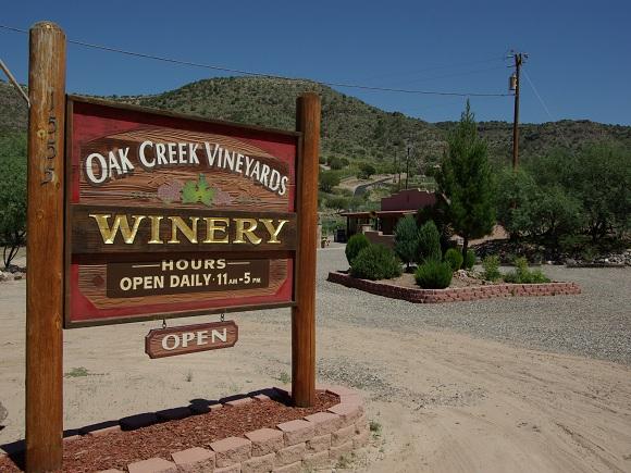 Das Oak Creek Weingut