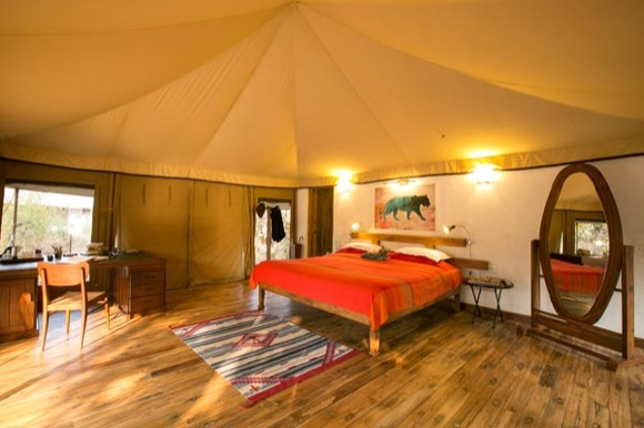 Luxuszelt im Jamtara Wilderness Camp