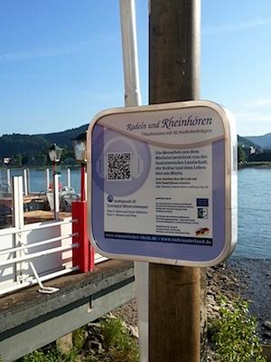 Schild audiotour QR - TI Bad Breisig ©Romantischer Rhein Tourismus GmbH