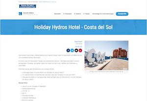Das Holiday Hydros kann direkt über die Webseite gebucht werden.