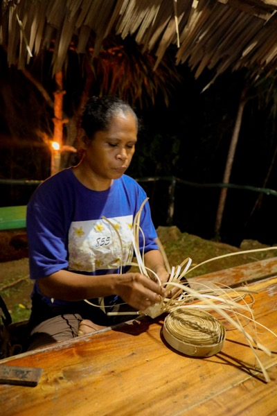 Traditionelle Webkunst Palau