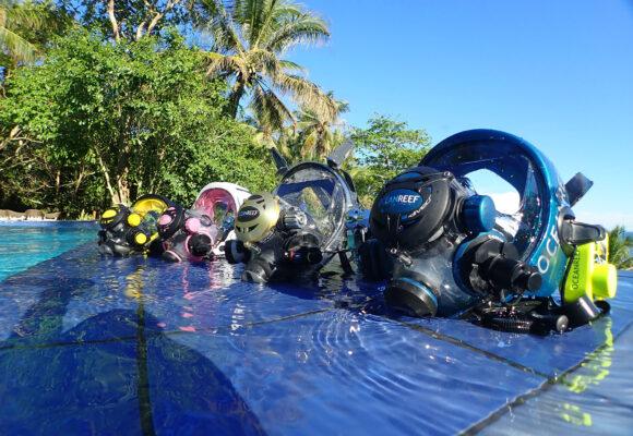 PADI Specialty Vollgesichtsmaske auf den Philippinen - Amun Ini Dive